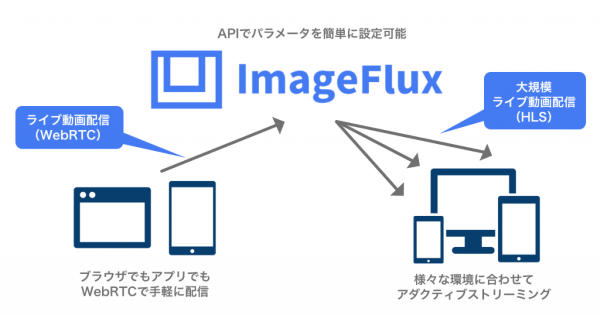 「ImageFlux Live Streaming」利用イメージ