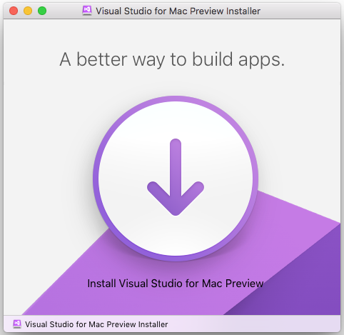 Visual Studio for Macインストーラー
